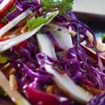 recette vegetarienne salade chou rouge fenouil et pommes