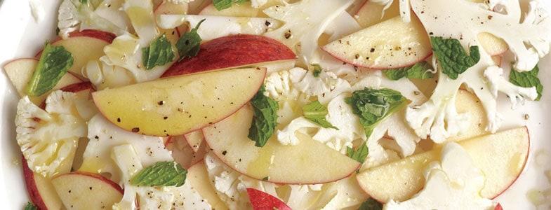 Salade de chou-fleur et pommes