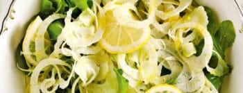recette vegetarienne salade fenouil citron roquette