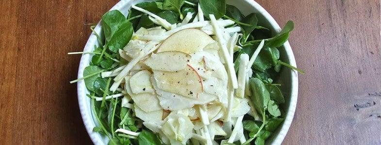 recette v g tarienne salade de fenouil pommes et cresson menu v g tarien. Black Bedroom Furniture Sets. Home Design Ideas