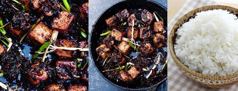 Tofu frit et riz thai
