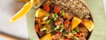 recette vegetarienne tofu sucre orange