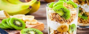 recette vegetarienne yaourt kiwi banane