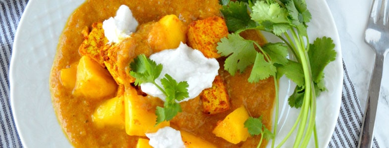 recette vegetarienne curry tofu mangue