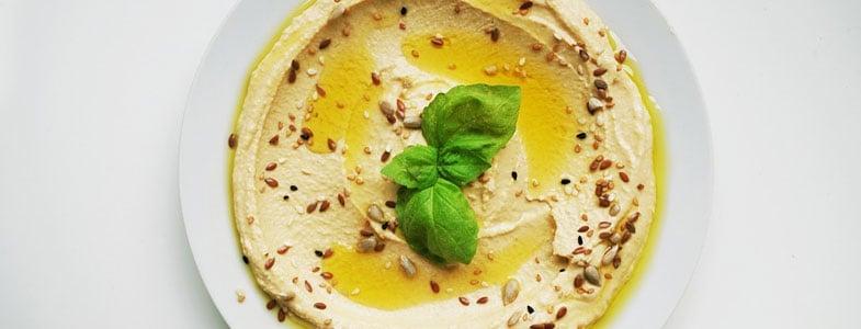 Houmous au miso blanc et dips de chou-fleur