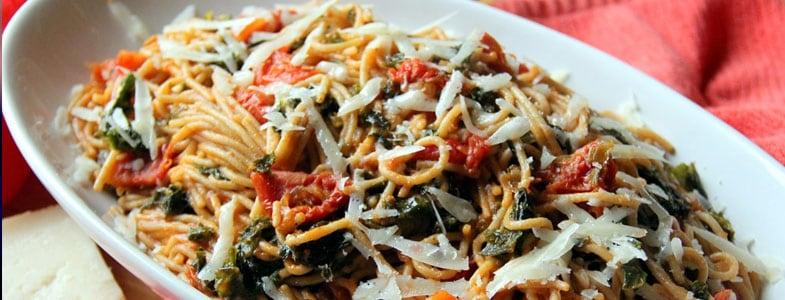 One pot pasta aux tomates séchées et chou kale