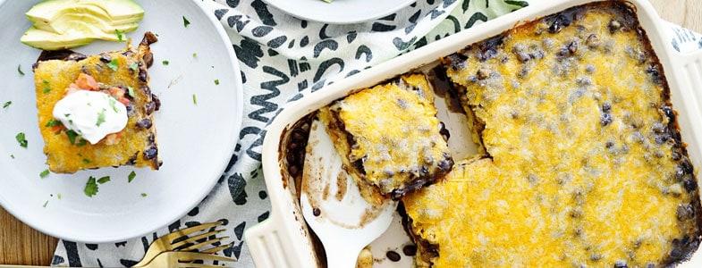 recette vegetarienne polenta haricots noirs