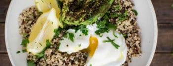 recette vegetarienne quinoa avocat oeuf