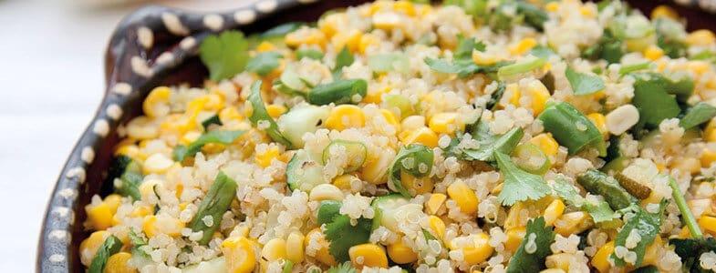Quinoa, maïs et haricots verts