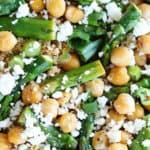 quinoa pois chiches asperges