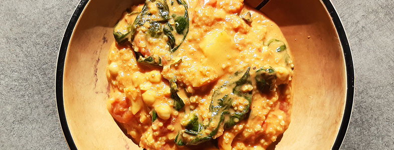 Curry de quinoa rapide