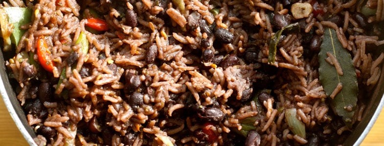 Riz et haricots rouges à la cubaine