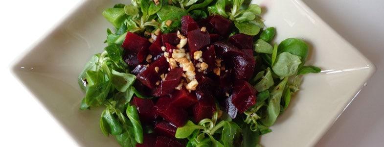 Salade de mâche et betteraves