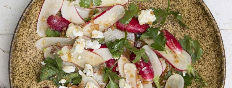 recette vegetarienne salade radis chevre