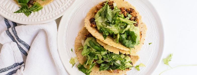 recette vegetarienne tacos quinoa haricots noirs
