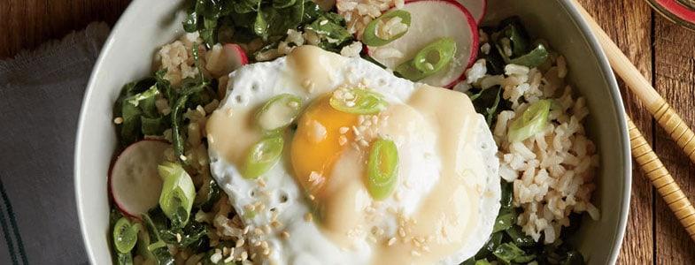 recette vegetarienne salade riz radis oeuf