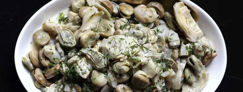 recette vegetarienne artichauts feves