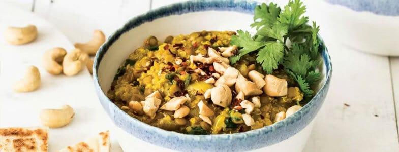 Lentilles et quinoa crémeux