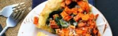 recette vegetarienne pizza patates douces epinards