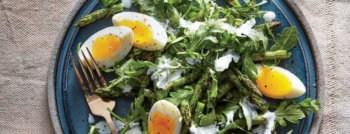 recette vegetarienne roquette asperge oeuf