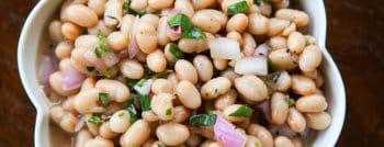 recette vegetarienne salade haricots blancs