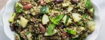 recette vegetarienne salade lentilles concombre kalamata