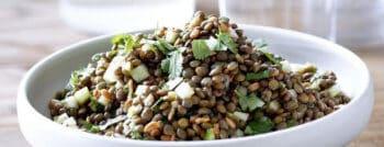 recette vegetarienne - salade lentilles froides