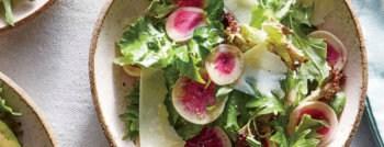 recette vegetarienne salade radis pastèque parmesan