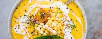 recette vegetarienne soupe froide haricots blancs mais