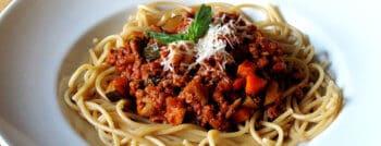 recette vegetarienne spaghettis bolognaise