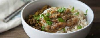 recette vegetarienne lentilles curry chutney rhubarbe
