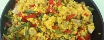 recette-vegetarienne-paella-artichauts