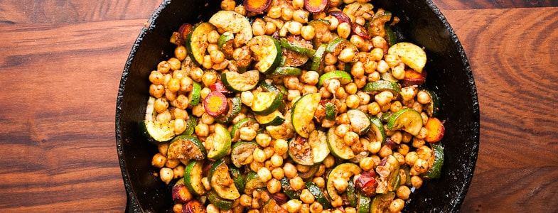 recette-vegetarienne-pois-chiches-courgettes