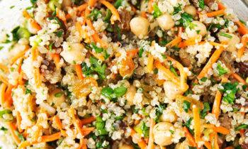 Recette végétarienne – Salade quinoa, pois chiches à la marocaine