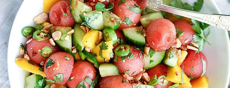 recette-vegetarienne-salade-concombre-pasteque-melon