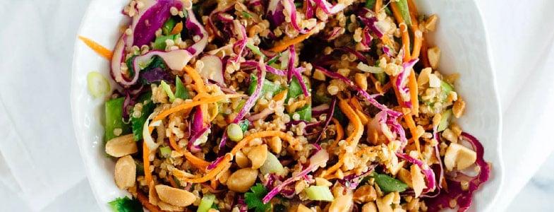 Salade croquante quinoa, noix de cajou