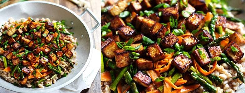 recette-vegetarienne-tofu-miel-gingembre-saute-legumes