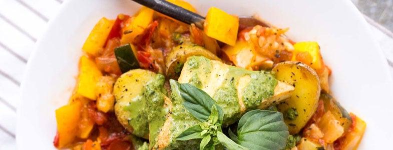 Tofu et pommes de terre à la provençale