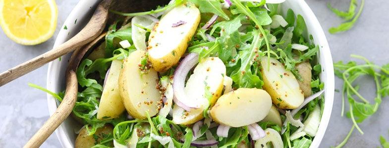 Salade roquette, pommes de terre
