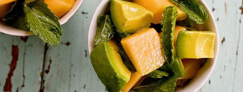 Salade de melon, avocat et menthe