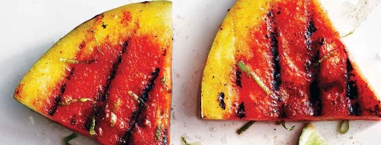 Pastèque grillée épicée