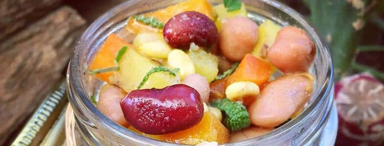 recette végétarienne Petit ragoût aux 4 haricots