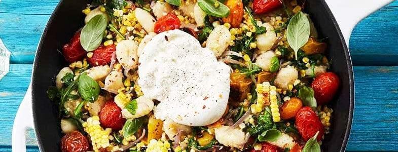 recette-vegetarienne-gnocchis-mais-tomates-burrata