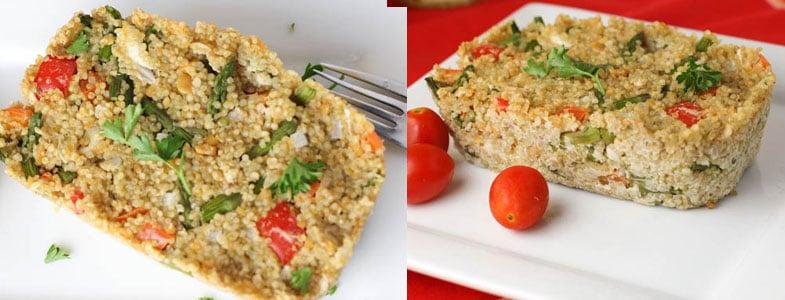 Gratin de quinoa de printemps