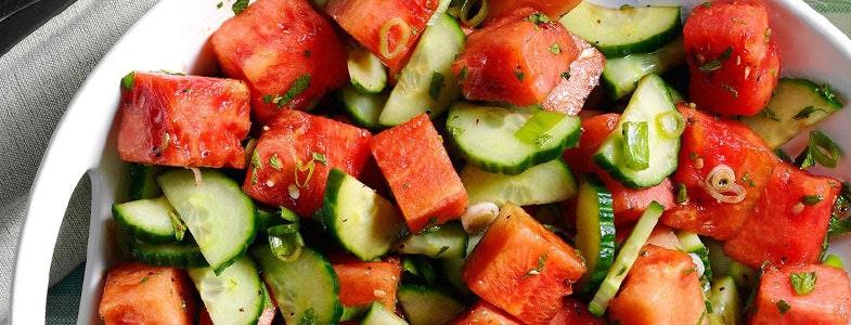 Salade de pastèque et concombre