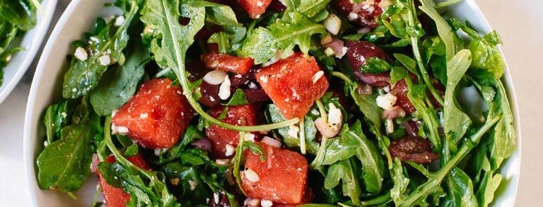 Salade de pastèque et roquette