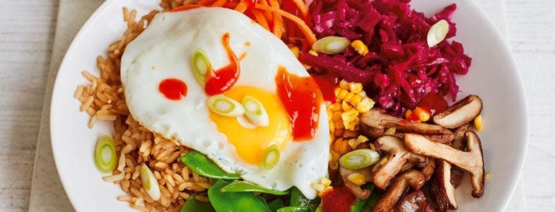 Recette végétarienne – Bibimbap