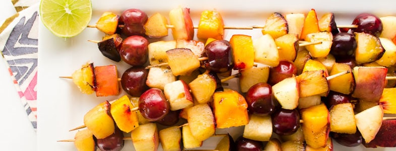 recette vegetarienne brochettes fruits barbecue