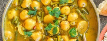 recette-vegetarienne-curry-haricots-verts-pommes-terre