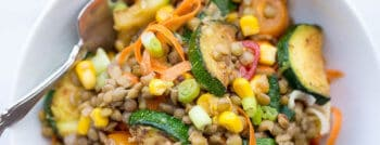 recette-vegetarienne-lentilles-miel-moutarde
